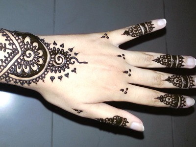 Simple Arabic Henna - Easy Stylish Mehndi Tattoo Design for Beginners