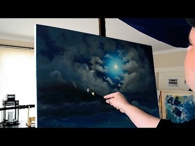 Stonehenge -  Full Moon Acrylic Time Lapse Painting