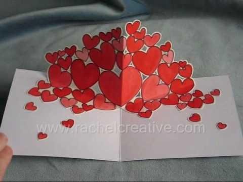 Trub Hearts Valentine Pop Up Card