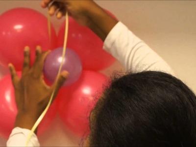 Como colocar un globo en la pared