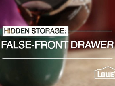 Create Hidden Storage with a Tip Out Tray Kit