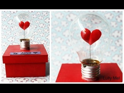 DIY: Caixa decorada com lâmpada do amor