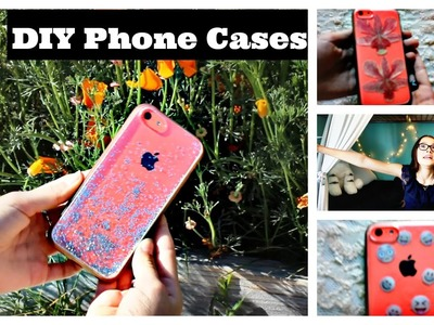 DIY Easy Phone Cases | Emoji, Glitter, Pressed Flowers | Make it Fancy | Fiona Frills