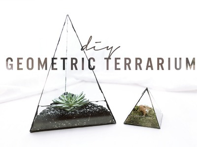 DIY GEOMETRIC GLASS TERRARIUM | THE SORRY GIRLS