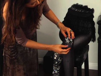 DIY Sequined Tights : DIY Fashion