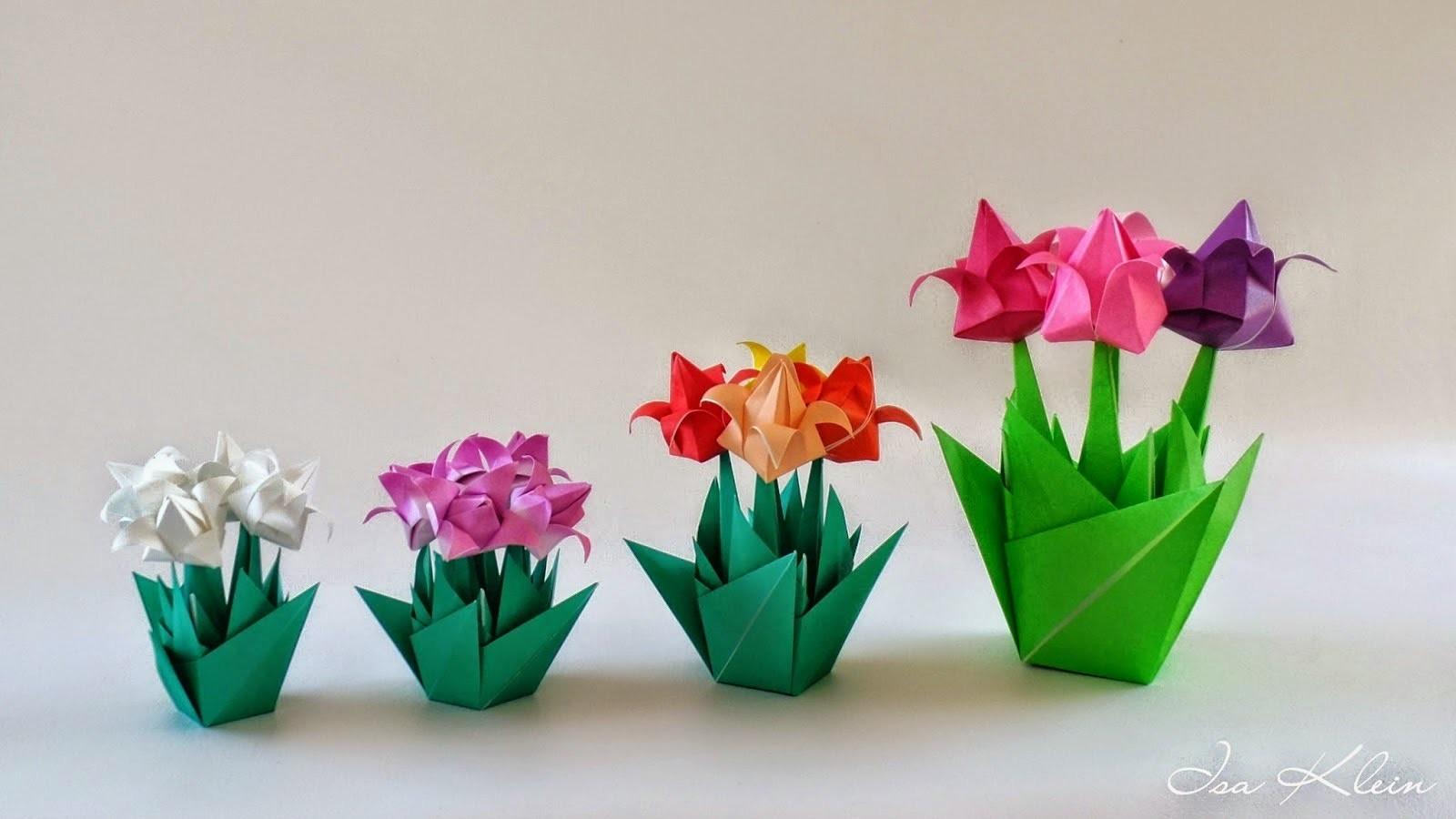 Поделки своими руками шаг за шагом первоцветы из бумаги
