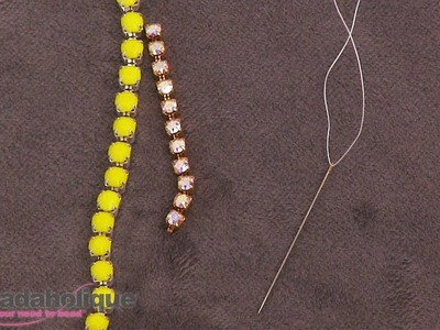 How to Cut Rhinestone Cup Chain to Make Beadable Rhinestone Settings