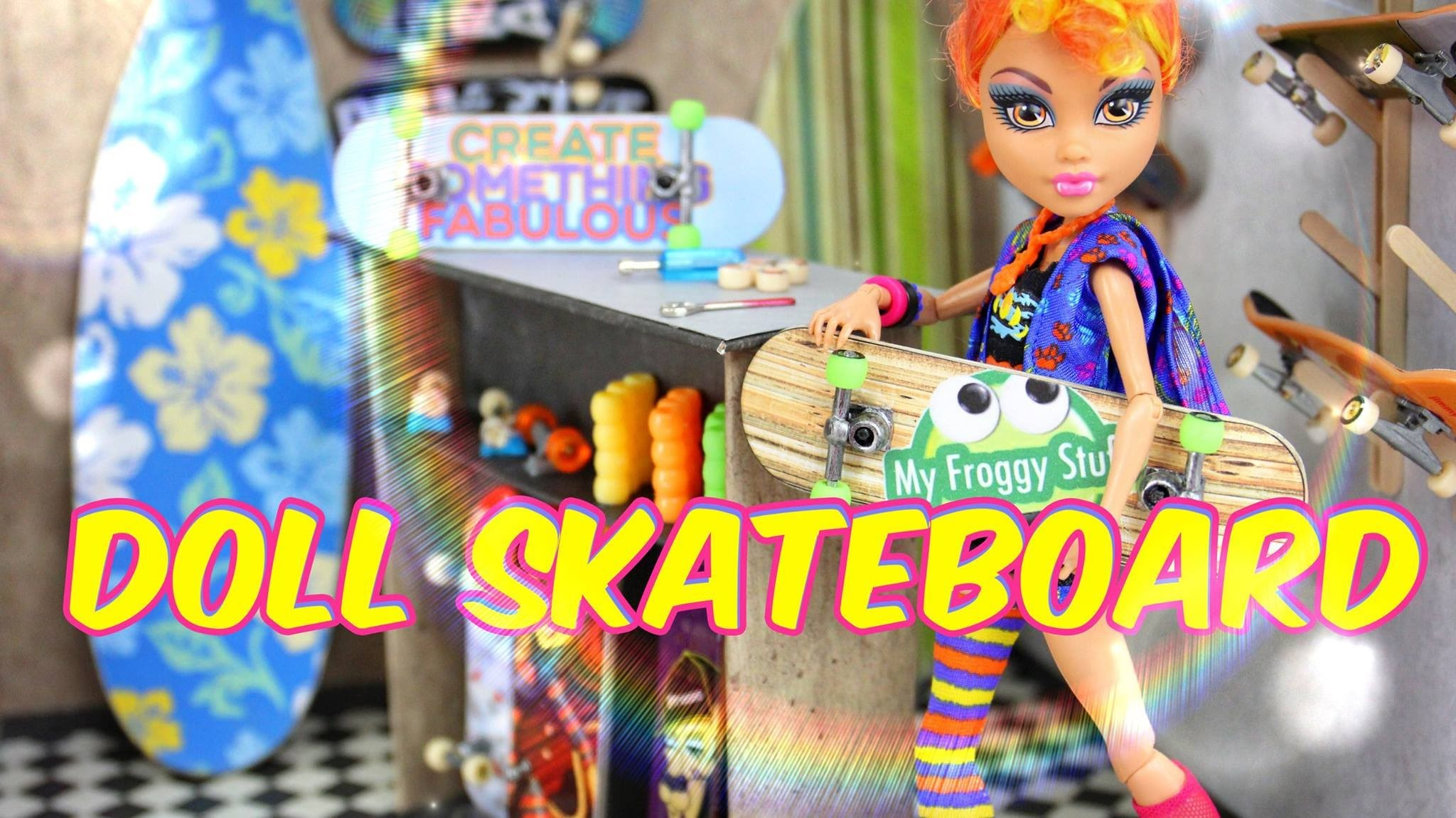 How to Make a Doll Skateboard - Doll Crafts