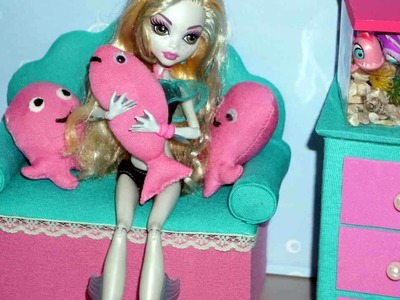 How to make a sofa. couch for Monster High Lagoona Blue doll
