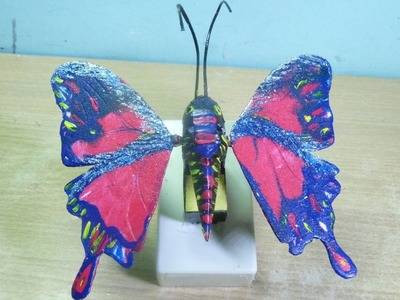 How to make a toy butterfly which can flap its wings