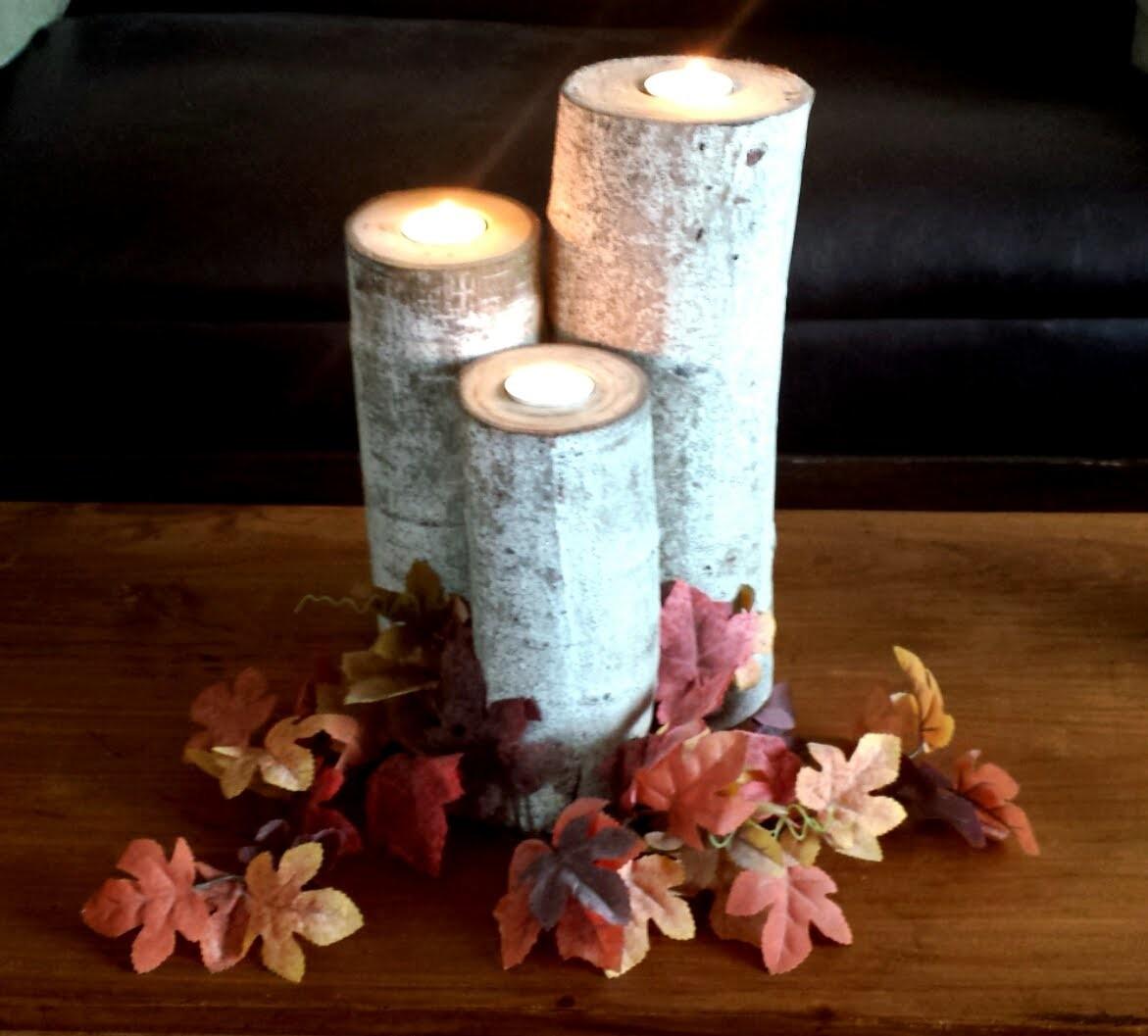 How To Make Aspen Wood Candle Holders - DIY DUKE