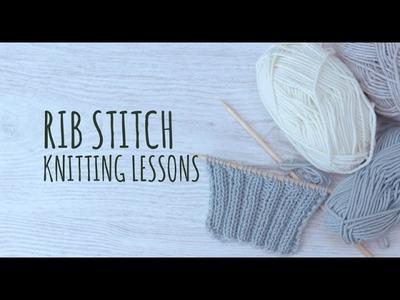 Knitting Lessons - Rib Stitch