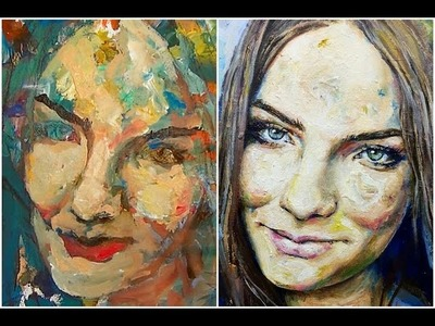 Learn how to paint a portrait with acrylic paint by Gordon Berger - Speed Painting