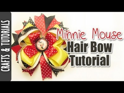 Minnie Mouse Inspired Hair Bow Tutorial.
