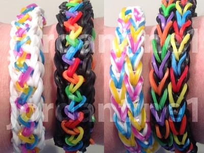 New Inspire Bracelet - Reversible - Rainbow Loom, Bandaloom, Wonder Loom, Crazy Loom
