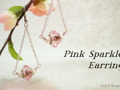 PInk Sparkles Earrings Tutorial