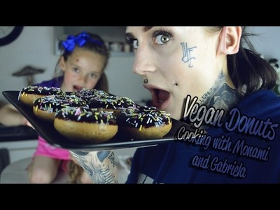 VEGAN DONUTS - COOKING WITH MONAMI FROST AND GABRIELA