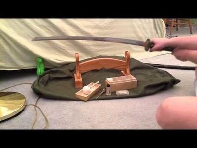CLEAN YOUR SAMURAI SWORD POWDER AND OIL