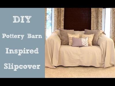 DIY Pottery Barn Inspired Slipcover