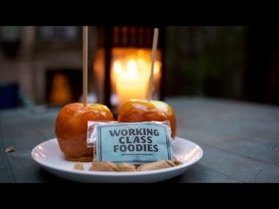 Homemade Halloween Candy: Caramel Apples & Pumpkin Spice, Sea Salt Caramels Recipe