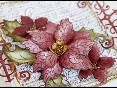 How to create a vellum poinsettia with Heartfelt Creations Sparkling Poinsettia