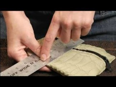 How to Make a Coin Purse : Measuring Fabric for A Coin Purse