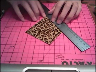 How to make a duct tape coin purse.pouch