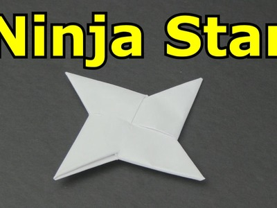 How to Make a Paper Ninja Star -Shuriken-