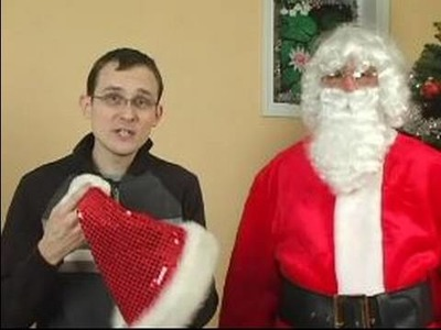 How to Make a Santa Claus Costume : How to Add the Right Hat to a Santa Costume