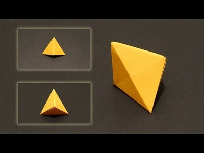 How To Make An Origami Hexahedron or Deltahedron - Ornament