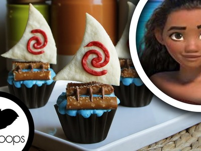 How to make Disneys Princess Moana: Cupcakes