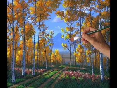 How To Paint An Aspen Forest In The Fall With Liquitex Acrylics On Canvas Complete Lesson