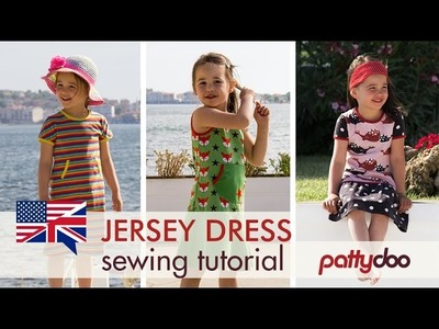 How to sew a kids' jersey knit tank dress with binding and double needle