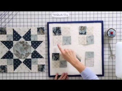 "How to Sew and Press ""Spinning"" Seams on a Four-Patch Quilt Block by Edyta Sitar -- Fat Quarter Shop"