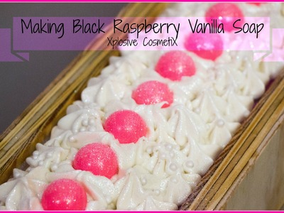 Making Black Raspberry Vanilla Cold Process Soap