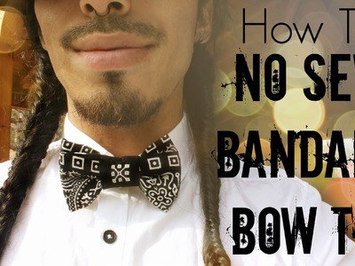 No Sew Bandana Bowtie