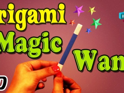 Origami - How To Make MAGIC WAND - Simple Tutorials In English