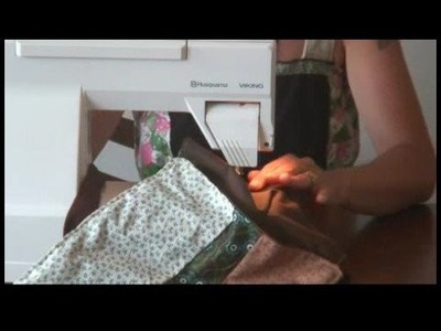 Sewing a Patchwork Purse : Attaching Velcro to Patchwork Purse