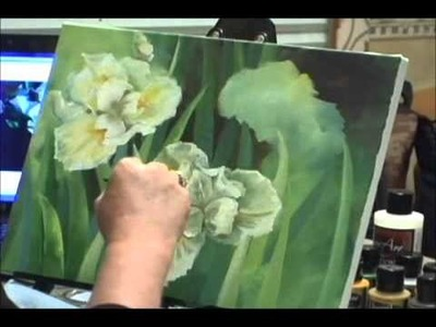 Speed Painting - Iris Flowers - Acrylic Painting Techniques