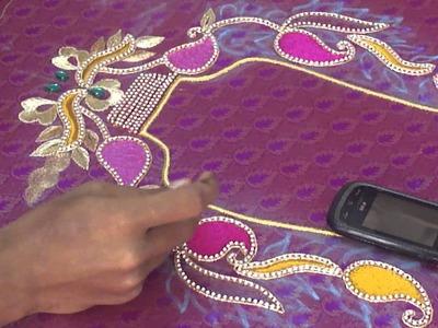 Aari or Maggam chain stitiches