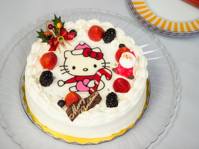 Hello Kitty Chocolate Christmas Cake Recipe