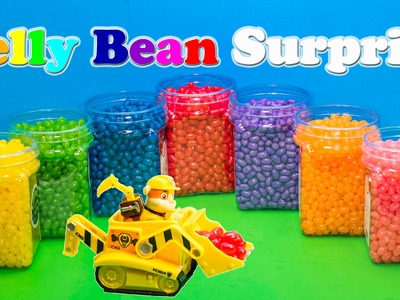 JELLY BEAN SURPRISE Nickelodeon Paw Patrol Disney Frozen Elsa Kinder Surprise Eggs Video
