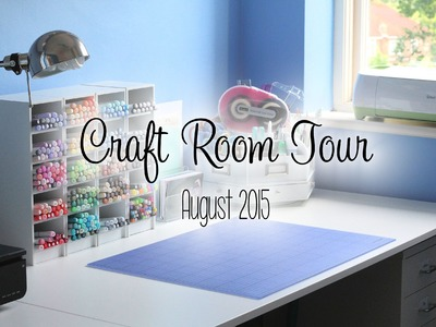 Craft Room Tour 2015 | The Card Grotto