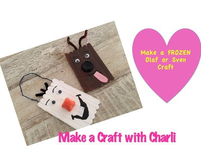FROZEN craft - Make a Craft with Charli