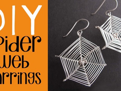 Halloween DIY - Spider Web Earrings Tutorial - Easy Halloween Costume