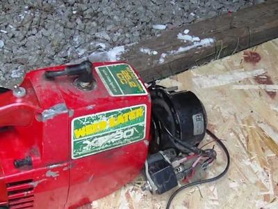 Homemade 12v Generator from Weed Eater