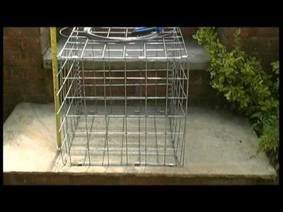 How to assemble a gabion basket with helicals and wire