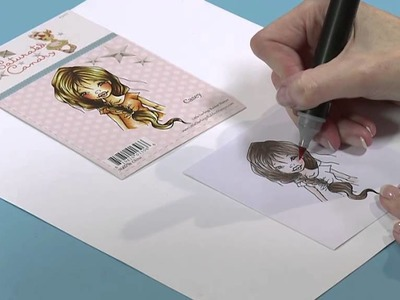 How to color characters with Chameleon Pens| Craft Academy