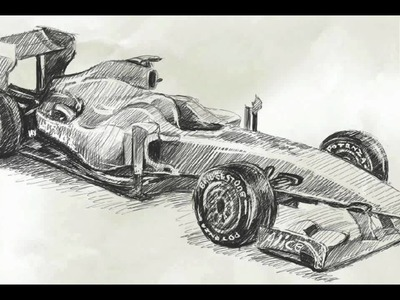 How To Draw Car Formula 1 Ferrari F60