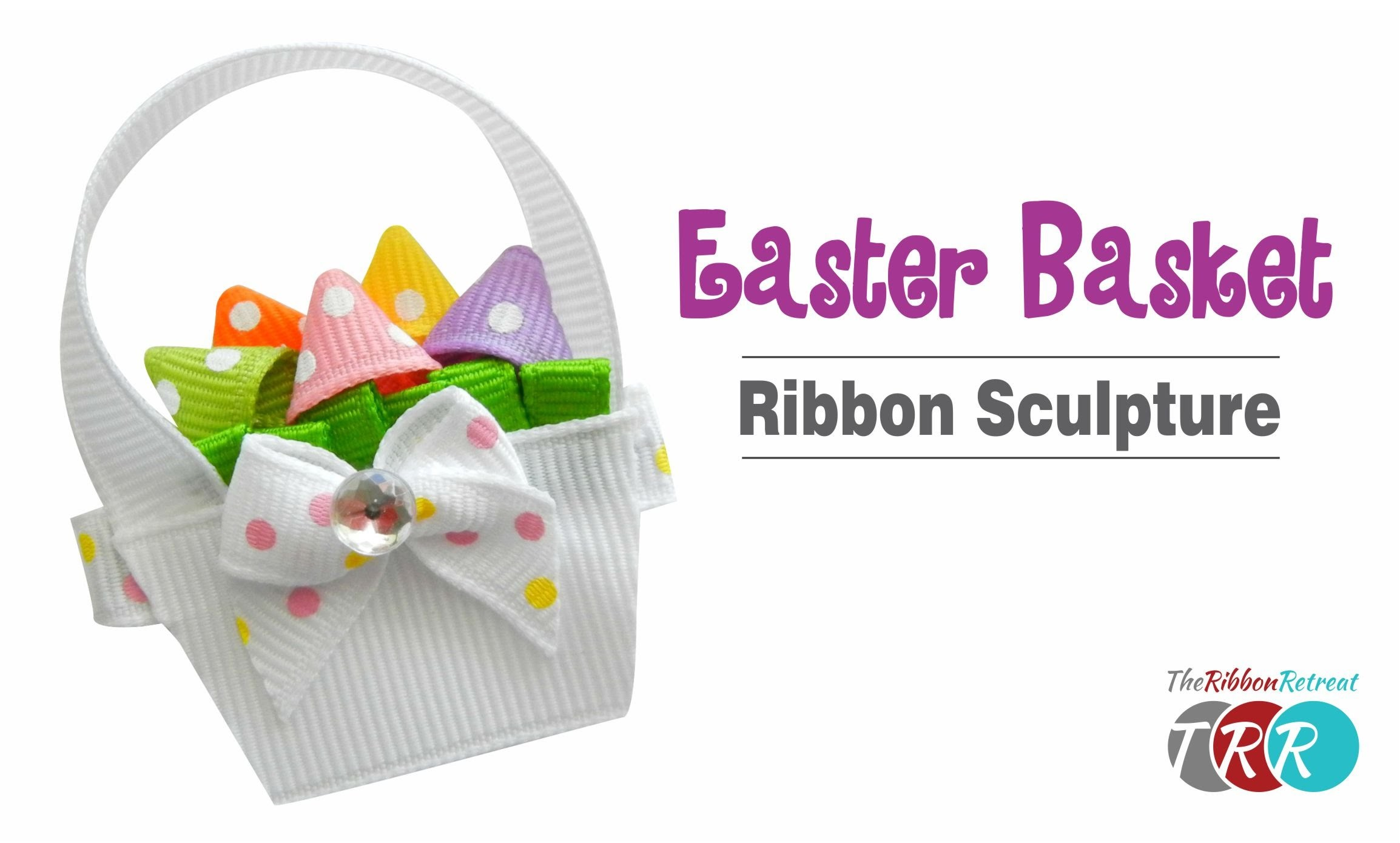 How to Make an Easter Basket Ribbon Sculpture - TheRibbonRetreat.com